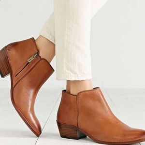 Sam Edelman Brown Leather Ankle Booties